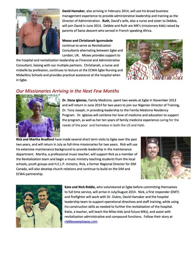 Egbe Missionaries 20144