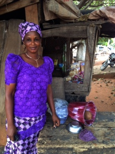 Iyabo and her store.